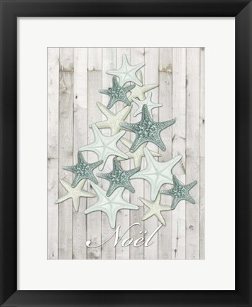 Framed Coastal Christmas IV Print