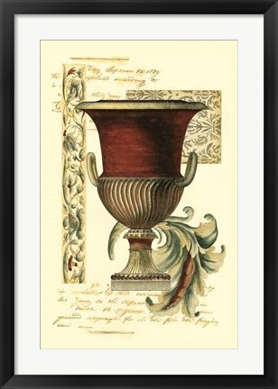 Framed Transitional Urn II Print