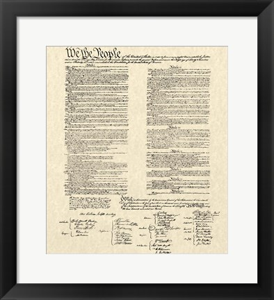 Framed Constitution Document Print