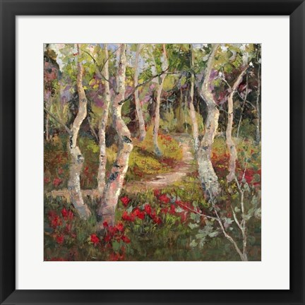 Framed Four Seasons Aspens I Print