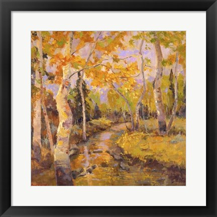 Framed Four Seasons Aspens III Print