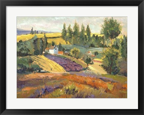 Framed Vineyard Tapestry II Print
