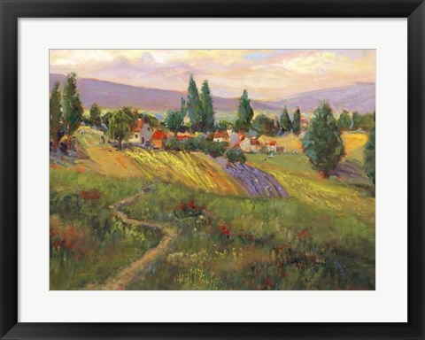 Framed Vineyard Tapestry III Print
