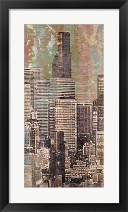 Framed Washed Skyline II Print