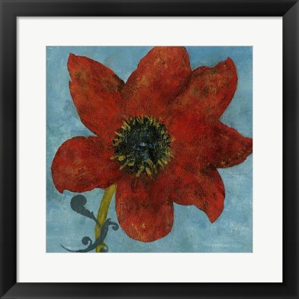 Framed Summer Bloom I Print