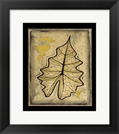 Framed Leaf Panel II Print