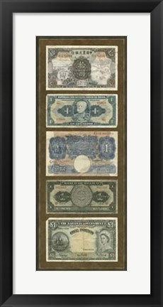 Framed Foreign Currency Panel II Print