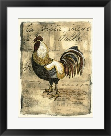 Framed Tuscany Rooster II Print