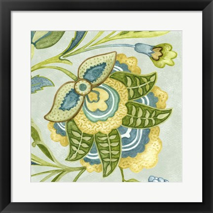 Framed Decorative Golden Bloom IV Print