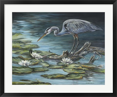 Framed Heron Haven Print