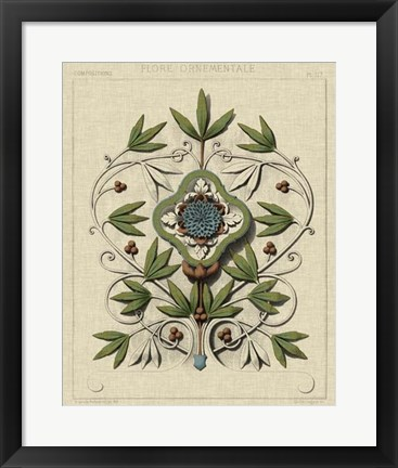 Framed Decorative Flourish IV Print