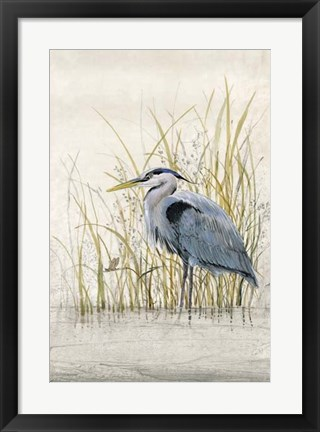 Framed Heron Sanctuary II Print