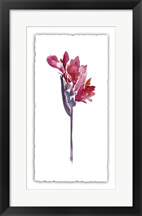 Framed Floral Watercolor V Print