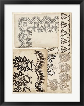 Framed Lace Sketchbook I Print