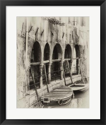 Framed Hanging Laundry Sepia Print