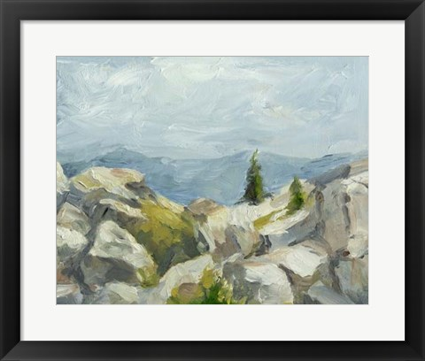 Framed Impasto Mountainside III Print