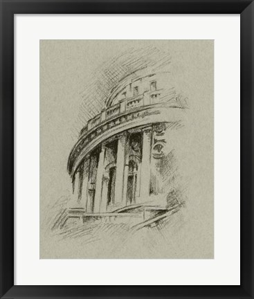 Framed Charcoal Architectural Study I Print