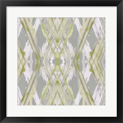 Framed Argyle Watercolor I Print