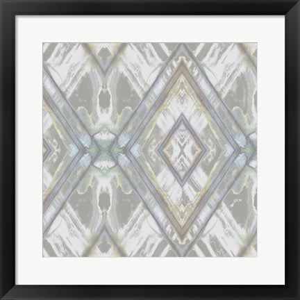 Framed Argyle Watercolor II Print