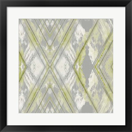 Framed Argyle Watercolor III Print
