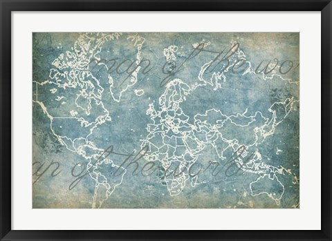 Framed Moon Map Print