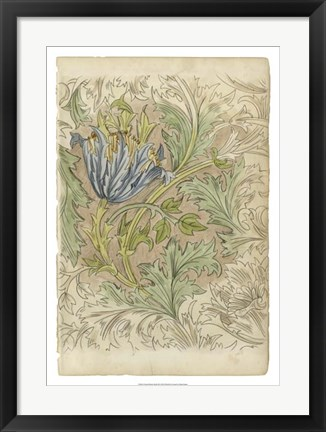 Framed Floral Pattern Study III Print