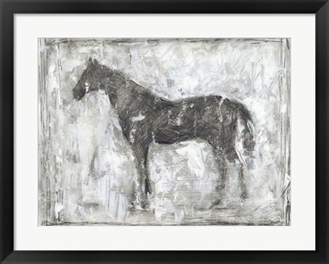 Framed Equine Silhouette II Print