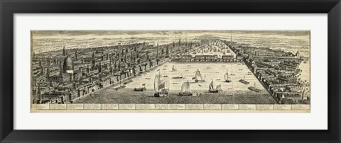 Framed West Prospect of London Print