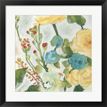 Framed June Bouquet II Print