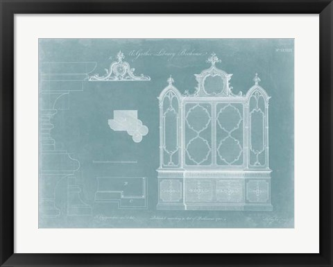 Framed Gothic Library Bookcase Print