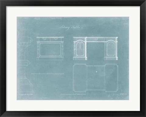 Framed Library Tables Print