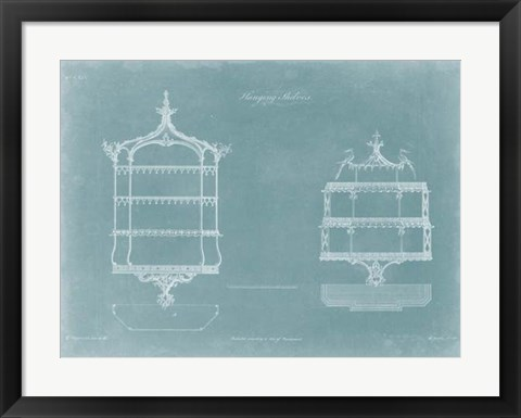 Framed Hanging Shelves II Print