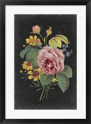 Framed Rose Bouquet II Print