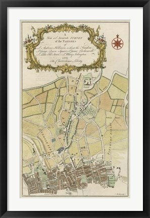 Framed Parishes of London Print