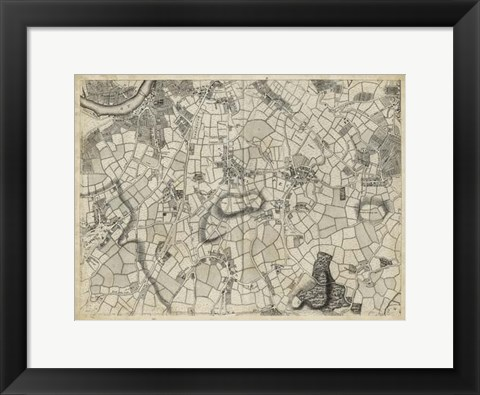 Framed Map of London Grid XI Print