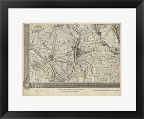 Framed Map of London Grid XIII Print