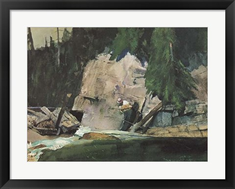Framed Fishing Retreat IV Print
