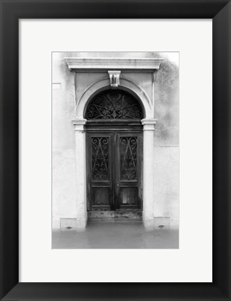 Framed Venetian Doorways I Print