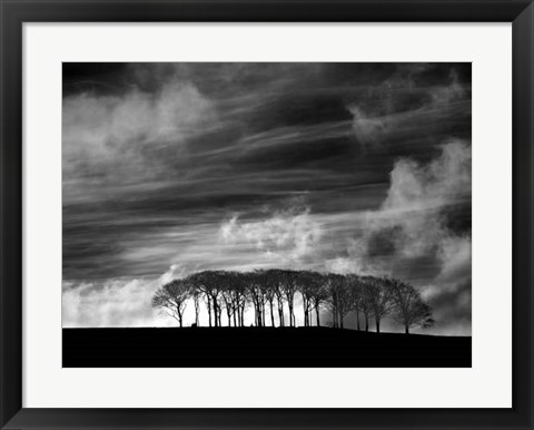 Framed Early Morning Clouds Print
