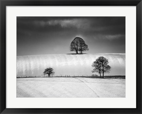 Framed Winter Triangle Print