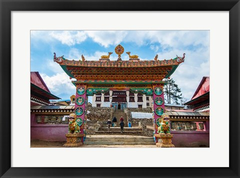 Framed Entrance to Tengboche Monastery, Nepal. Print