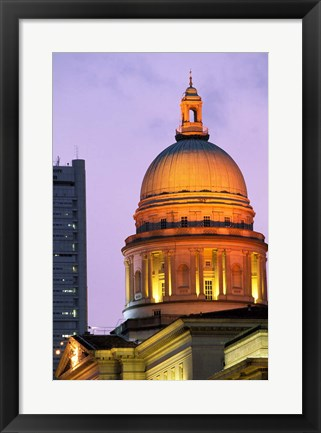 Framed Asia, Singapore, Padang. Supreme Court Building. Print