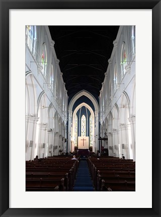 Framed Singapore. The interior view of St. Andrew's Cathedral Print