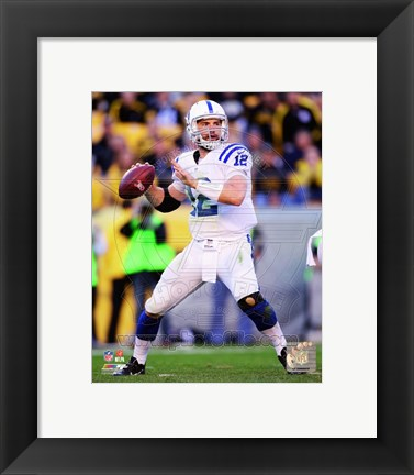 Framed Andrew Luck 2014 white jersey Print