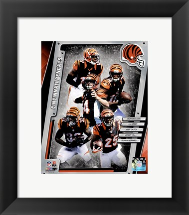 Framed Cincinnati Bengals 2014 Team Composite Print