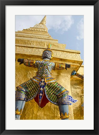 Framed Grand Palace, Upper Terrace monuments, Bangkok, Thailand Print