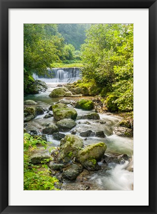 Framed Waterfall and River, Rize, Black Sea Region of Turkey Print