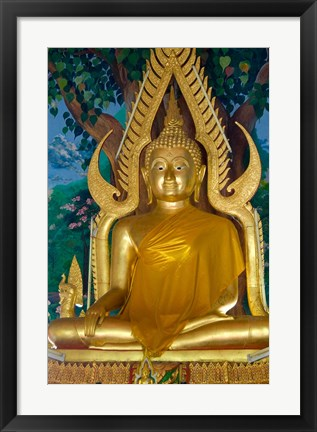 Framed Thailand, Ko Samui, Golden Buddha, Prayer House Print
