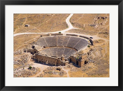 Framed Roman Amphitheater, Ancient Hierapolis, Pamukkale, Turkey Print