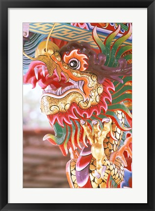 Framed Thailand, Bangkok Dragon in chinese temple Print